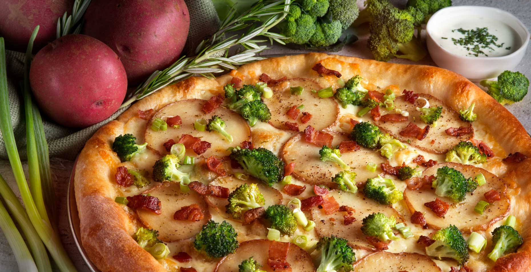 Potato  Broccoli Pizza